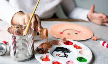 Χριστουγεννιάτικες ζωγραφιές με δαχτυλομπογιές - Δείτε πώς θα τις φτιάξετε