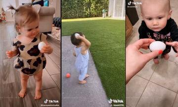 Γονείς δίνουν στα παιδιά τους να κρατήσουν ένα αυγό - Δείτε πώς αντιδρούν