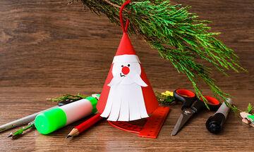 Χριστουγεννιάτικες χειροτεχνίες: Φτιάξτε Άγιο Βασίλη με χαρτί (vid)