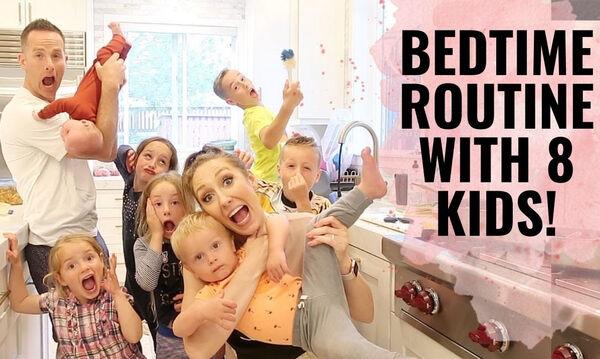 Έτσι βάζει τα 8 παιδιά της για ύπνο (vid)