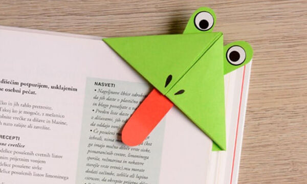Φτιάξτε έναν εντυπωσιακό σελιδοδείκτη βατραχάκι σε λίγα λεπτά