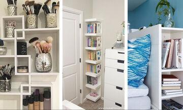 Έξυπνες ιδέες αποθήκευσης για το υπνοδωμάτιο που θα σας λύσουν τα χέρια