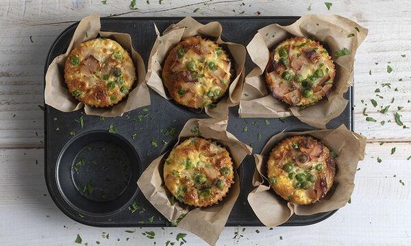 Muffins με γαλοπούλα και αρακά - Δείτε πώς θα τα φτιάξετε