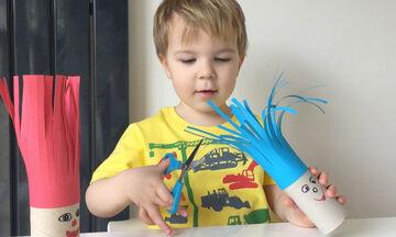 Διασκεδαστικές δραστηριότητες με ψαλίδι για νήπια (vids)