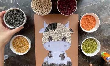 Χειροτεχνίες για παιδιά: Φτιάξτε απίθανα κολάζ με όσπρια