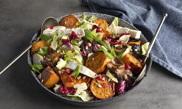 Σαλάτα με γλυκοπατάτες και μανιτάρια - Δείτε πώς θα τη φτιάξετε