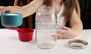 Εύκολο πείραμα για παιδιά με αλάτι και ποπ κορν