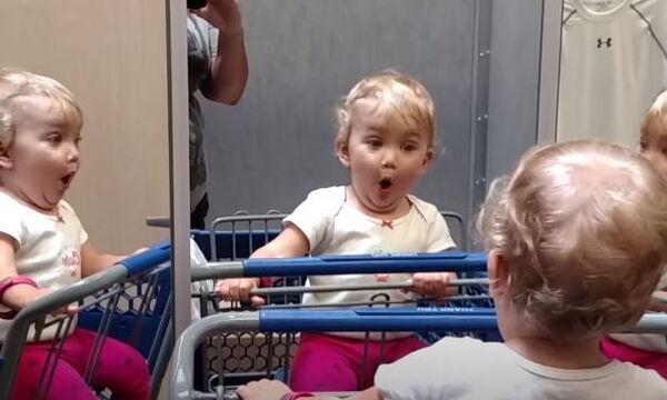 Ξεκαρδιστικό βίντεο: Μωρά βλέπουν τον εαυτό τους στον καθρέφτη
