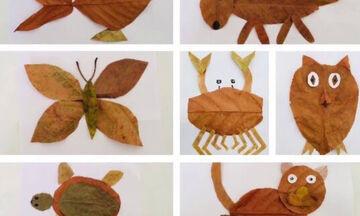 Χειροτεχνίες για παιδιά: Φτιάξτε εντυπωσιακά κολλάζ με φύλλα