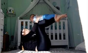 Γυμναστική για μαμάδες: Η Μορφούλα Ντώνα δείχνει ασκήσεις για νέες μαμάδες