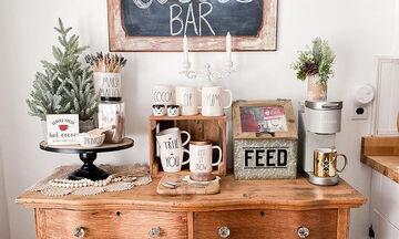 Tips για μαμάδες: Πώς θα φτιάξετε το δικό σας coffee bar στο σπίτι (pics)