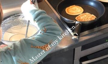 Γιος γνωστής Ελληνίδας δημοσιογράφου έφτιαξε pancakes για πρωινό