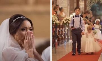 Γαμπρός έκανε έκπληξη στη νύφη φέρνοντας τους μαθητές της στην εκκλησία