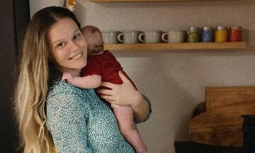 Γεωργία Αβασκαντήρα: Η τρυφερή φώτο με τον 6 μηνών γιο της