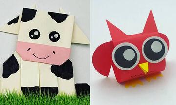 Χειροτεχνίες για παιδιά: Φτιάξτε πανέμορφα ζωάκια από χαρτί