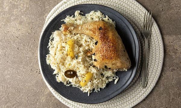 Λεμονάτο κοτόπουλο με ρύζι - Η πιο εύκολη συνταγή που έχετε φτιάξει