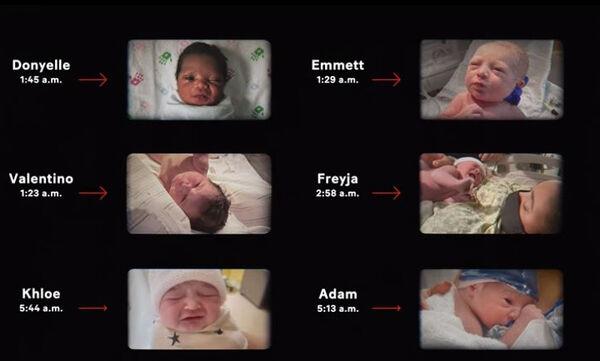 Μωράκια που γεννήθηκαν λίγες ώρες πριν την έναρξη του Super Bowl (vid)