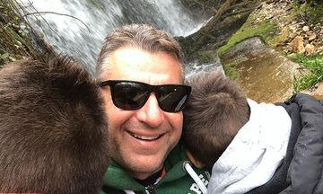 Γιάννης & Δημήτρης Λιάγκας: Η απίθανη φώτο με τον μπαμπά τους στα χιόνια