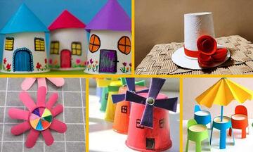 Πέντε κατασκευές με χάρτινα ποτήρια που θα ενθουσιάσουν τα παιδιά
