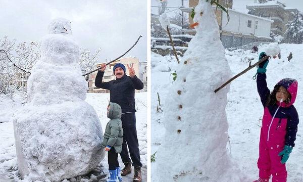Ποιοι χιονάνθρωποι διάσημων Ελλήνων γονιών έκλεψαν τις εντυπώσεις;