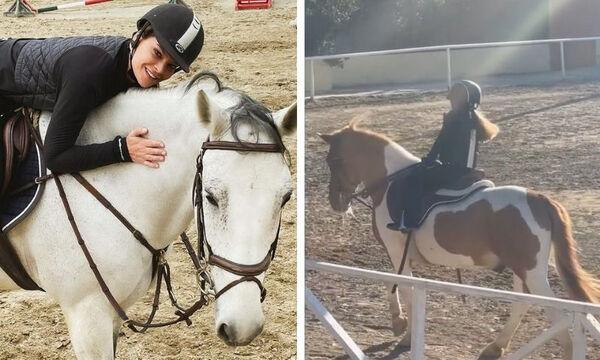 Ελένη Πασχαλίδη: Η κόρη του Αντώνη Ρέμου κάνει ιππασία (pics)