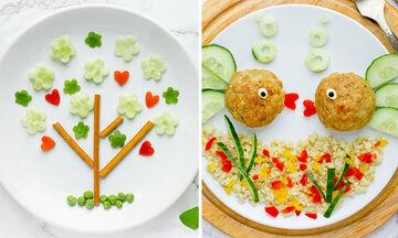 Έξι παιχνιδιάρικα πιάτα με λαχανικά για παιδιά (pics)