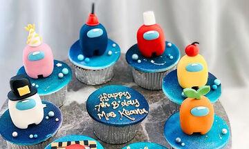Cupcakes Among us για τα παιδιά που λατρεύουν αυτό το διαδικτυακό παιχνίδι