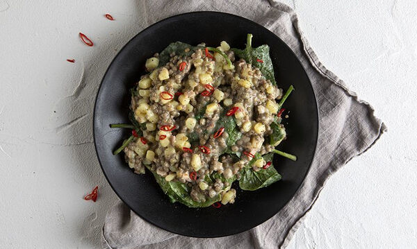 Φακές με σπανάκι στο τηγάνι: Ένα θρεπτικό φαγητό για όλη την οικογένεια