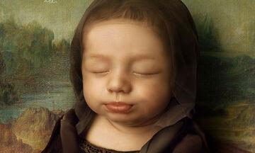 Υπέροχο! Μπαμπάς αναπαριστά γνωστά έργα τέχνης με το νεογέννητο μωρό του