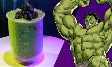 Αποκριάτικο smoothie εμπνευσμένο από τον Hulk - Πώς θα το φτιάξετε
