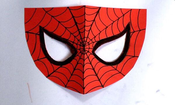 Απόκριες στο σπίτι: Φτιάξτε με τα παιδιά χάρτινη μάσκα Spiderman