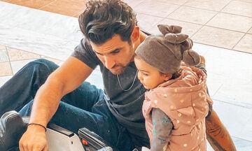 Ετεοκλής Παύλου: Ένας απίθανος μπαμπάς - Οι νέες φώτο με τη Μελίτα