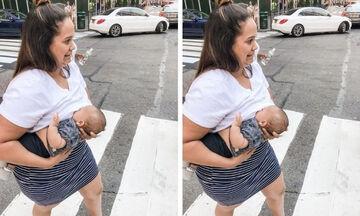 Μαμά θηλάζει δημόσια στο δρόμο και γίνεται  viral
