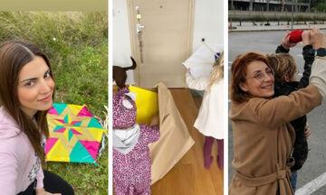 Πώς πέρασαν την Καθαρά Δευτέρα γνωστοί Έλληνες γονείς (pics)