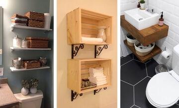 Μικρό μπάνιο: Αυτές οι ιδέες αποθήκευσης θα σας λύσουν τα χέρια