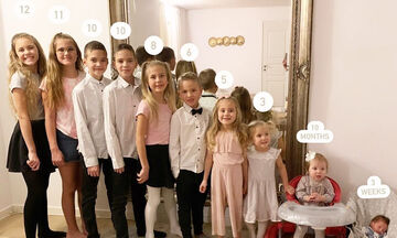 Μητέρα φωτογραφίζει τα δέκα παιδιά της και το αποτέλεσμα είναι φανταστικό