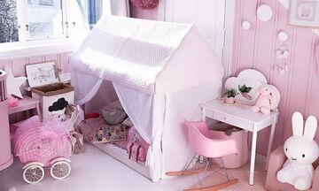 Διακοσμήστε το παιδικό δωμάτιο με χρωματιστές σκηνές (pics)