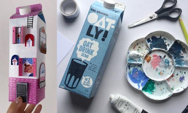 Χειροτεχνίες για παιδιά: Έξυπνες κατασκευές με άδεια κουτιά από γάλα