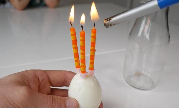 Πειράματα για παιδιά: Κάντε κι εσείς το πείραμα με το αυγό και τα κεριά