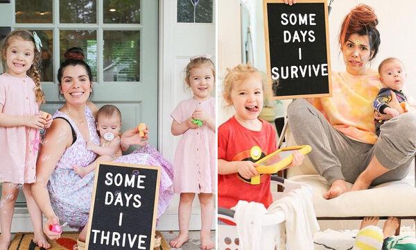 Αυτή η μαμά μας δείχνει τις διαφορετικές πλευρές της μητρότητας