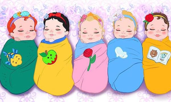 Οι πριγκίπισσες της Disney σε βρεφική ηλικία - Απίθανα σκίτσα