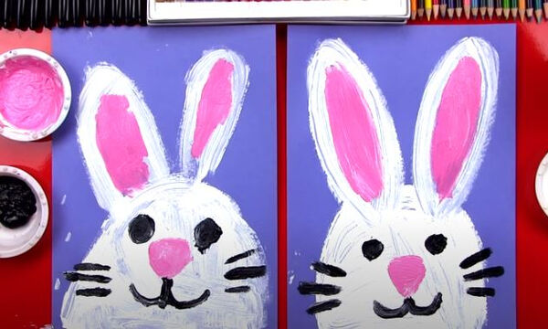 Ζωγραφική για παιδιά: Μάθετε να ζωγραφίζετε το λαγουδάκι του Πάσχα