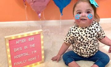 Αυτή η μπέμπα επιστρέφει σπίτι της μετά από 694 μέρες στο νοσοκομείο (vid)