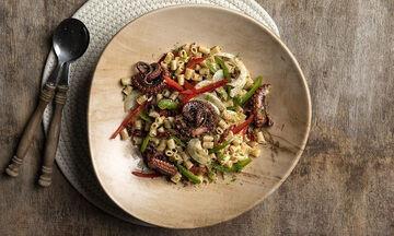 Νηστίσιμη σαλάτα ζυμαρικών με χταπόδι - Απολαύστε την και ως κυρίως γεύμα