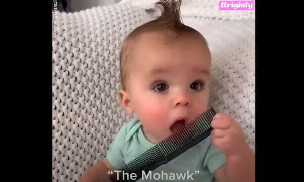 Αυτό το μωράκι έγινε viral στο TikTok για τα χτενίσματά του (vid)