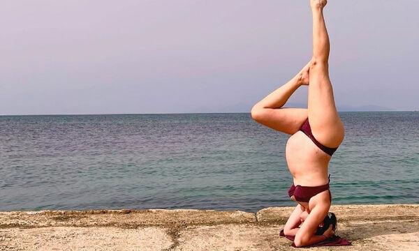 Ελληνίδα εγκυμονούσα κάνει κατακόρυφο στον 9ο μήνα & τρελαίνει το Instagram