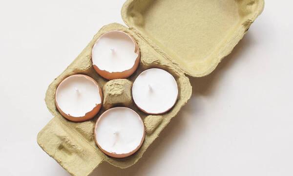 Γεμίστε τα τσόφλια αβγών με κερί και φτιάξτε πασχαλινά ρεσό