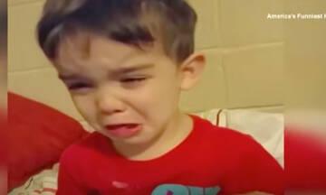 Έβαλε τα κλάματα επειδή το γεύμα του ήταν πολύ όμορφο για να το φάει (vid)