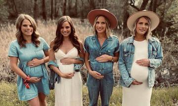 Είναι αδερφές και όλες στο ίδιο τρίμηνο εγκυμοσύνης (pics)
