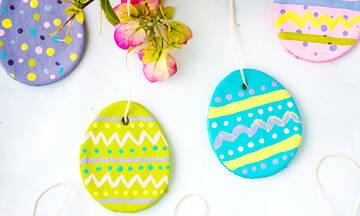 Πασχαλινά διακοσμητικά αυγά με ζύμη αλατιού - Πώς θα τα φτιάξετε